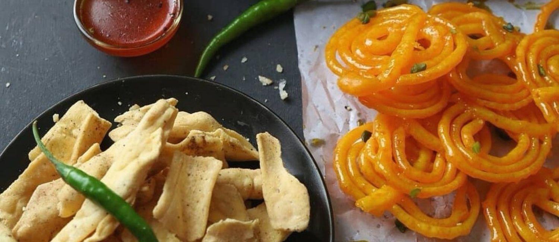 best gujarati snacks in Ahmedabad - Fafda Jalebi